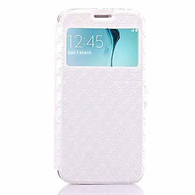 Hoesje voor Samsung Galaxy S6 Edge Plus S6 hoesje hoesje met houder flip reliëf full body hoesje geometrisch patroon hard pu lederen voor