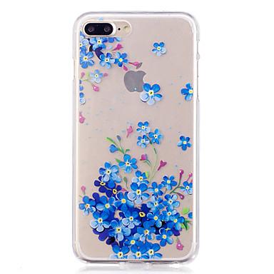 Hülle Für Apple iPhone 7 Plus iPhone 7 IMD Transparent Muster Rückseite Blume Weich TPU für iPhone 7 Plus iPhone 7 iPhone 6s Plus iPhone