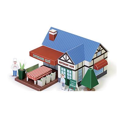 قطع تركيب3D نموذج الورق ألعاب بناء مشهور بيت معمارية 3D اصنع بنفسك غير محدد قطع