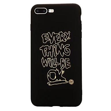 Case voor apple iphone 7 plus 7 patroon achterblad tekstzin soft tpu 6s plus 6 plus 6s 6 5 5s se