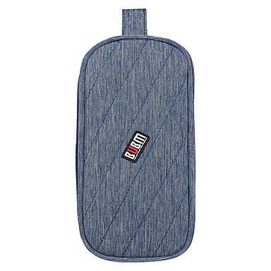 Aufbewahrungstasche für Stromversorgung USB-Stick Festplatte Akkus Maus Kopfhörer Volltonfarbe Nylon Stoff
