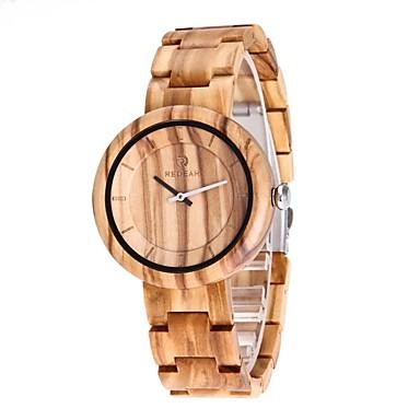 Heren Horloge Hout Japans Kwarts houten Hout Band Luxe Elegant Beige