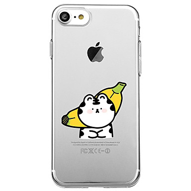 Hülle Für Apple iPhone 7 Plus iPhone 7 Transparent Muster Rückseite Frucht Cartoon Design Weich TPU für iPhone 7 Plus iPhone 7 iPhone 6s
