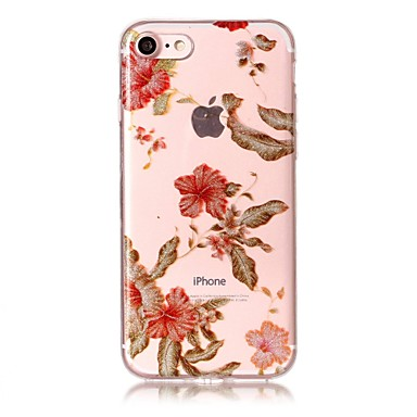 per Per 7 06023431 Custodia Plus iPhone Custodia 6s IMD 7 Fiore decorativo Fantasia Morbido Apple iPhone iPhone TPU Glitterato disegno posteriore 7dcqFW