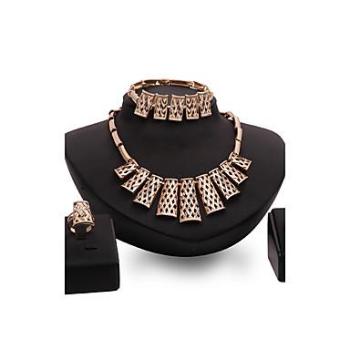 Dames Sieraden Set Bergkristal Strass Verguld Legering Anderen Rechthoekig Gepersonaliseerde Luxe Vintage Opvallende sieraden Euramerican