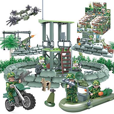 GUDI 8009 Bausteine Minifiguren aus Blockbausteinen Bildungsspielsachen Spielzeuge Panzer Kämpfer Militär keine Angaben Jungen 318 Stücke