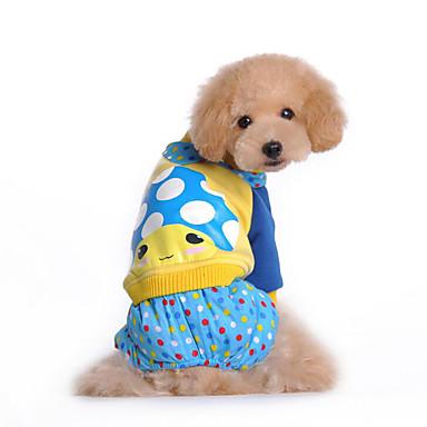 Hond Jumpsuits Hondenkleding Ademend Casual/Dagelijks Cartoon Fuchsia Blauw Kostuum Voor huisdieren