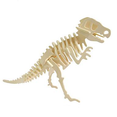 قطع تركيب3D تركيب النماذج الخشبية مجموعات البناء ديناصور حيوان 3D محاكاة اصنع بنفسك خشب الخشب الطبيعي كلاسيكي للجنسين هدية