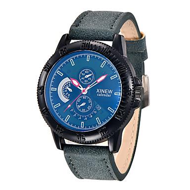 Bărbați Ceas de Mână Ceas La Modă Quartz PU Bandă Negru Albastru Verde