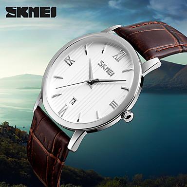 Herrn Quartz digital Digitaluhr Armbanduhr Smartwatch Militäruhr Sportuhr Chinesisch Kalender Großes Ziffernblatt Echtes Leder Band