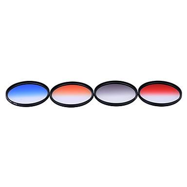 Andoer professionele 77mm gnd afgestudeerde filter set gnd4 (0.6) grijsblauw oranje rood afgestudeerde neutrale dichtheid filter