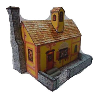 3D-puzzels Papierkunst Speeltjes Vierkant Beroemd gebouw Huis Architectuur 3D DHZ Simulatie Hard Kaart Paper Unisex Stuks