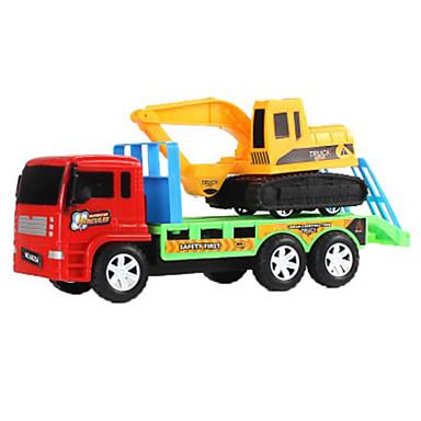 Jucării pentru mașini Jucarii Trage înapoi Car / inerțial auto Motocicletă Încăcătoare Compacte pe Șenile Excavator Jucarii