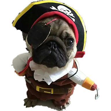 قط كلب ازياء تنكرية ملابس الكلاب جماجم كوفي قماش بطانة فرو كوستيوم للحيوانات الأليفة كاجوال / يومي الكوسبلاي