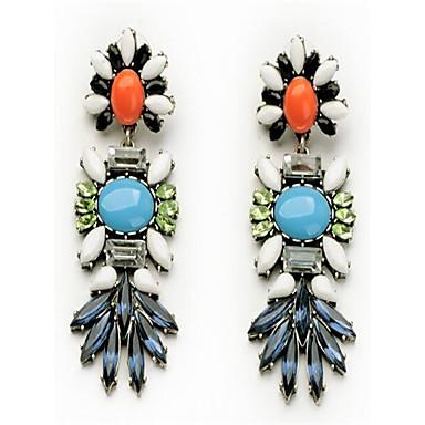Dames Oorknopjes Bergkristal Gepersonaliseerde Vintage Modieus Oversized Legering Ovalen vorm Bloemvorm Bladvorm Sieraden Voor Anders >>