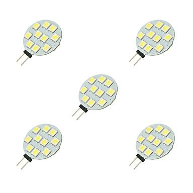 5 Stück 2W 160lm G4 LED Doppel-Pin Leuchten 10 LED-Perlen SMD 5050 Weiß 12V