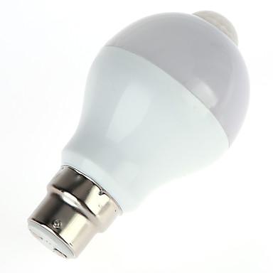 5W 450 lm مصابيح صغيرة LED A60(A19) 10 الأضواء SMD 5630 الأشعة تحت الحمراء الاستشعار التحكم في الإضاءة جسم الإنسان الاستشعار أبيض دافئ