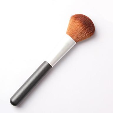 1pcs فرشاة البودرة فرشاة النايلون جودة عالية الخشب الوجه