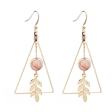 Dames Bladvorm Druppel oorbellen - Uniek ontwerp Goud Driehoek Bladvorm oorbellen Voor Feest Verjaardag Feest / Avond Kantoor / Formeel