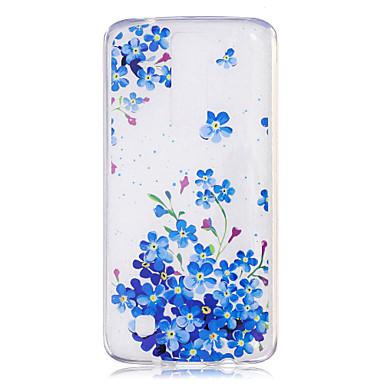 hoesje Voor LG K8 LG IMD Transparant Patroon Achterkant Bloem Zacht TPU voor LG X Power LG Magna H502