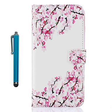 Caz pentru Apple ipod touch 5 touch 6 carcasă caz acoperit cu carcasă plină cu stilou floare hard piele pu