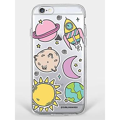 Geval voor iphone 7 plus iphone 6 doorschijnend tpu cartoon telefoon zachte shell voor iphone 7 iphone 66 / s plus iphone 6 / 6s iphone 5