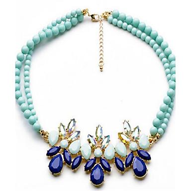 Pentru femei Coliere Sapphire sintetic Flower Shape Leaf Shape Aliaj Personalizat Modă Ajustabile Cute Stil Bijuterii Pentru Petrecere