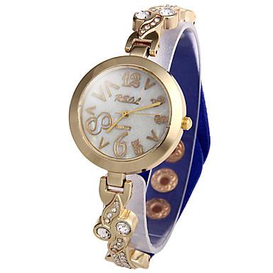 Dames Modieus horloge Unieke creatieve horloge Gesimuleerd Diamant Horloge Chinees Kwarts imitatie Diamond Leer Band Glitter Zwart Wit