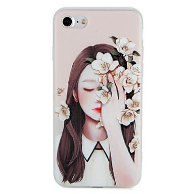 Caz pentru Apple iphone 7 plus 7 acoperire model embossed spate acoperă caz sexy doamnă floare moale tpu 6s plus 6 plus 6s 6