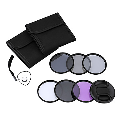 Andoer 49mm uv cpl fld nd (nd2 nd4 nd8) filtru de film kit kit set ultraviolet circular-polarizator fluorescent neutru densitate filtru