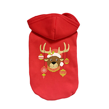 كلب هوديس ملابس الكلاب عيد الميلاد الرنة أحمر كوستيوم للحيوانات الأليفة