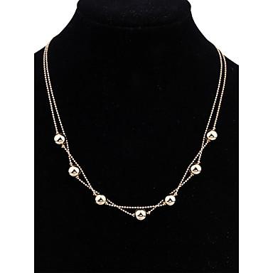 Pentru femei Coliere cu Pandativ Bijuterii Circle Shape Aurit Design Basic Design Circular Geometric Hipoalergenic La modă Vintage Stil