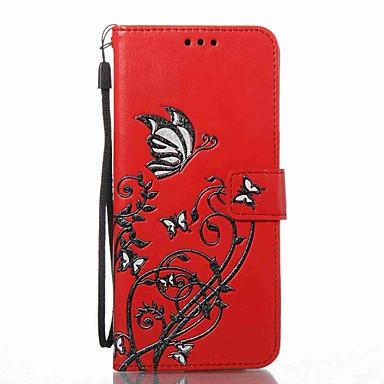 Maska Pentru Samsung Galaxy S8 Plus S8 Portofel Titluar Card Cu Stand Întoarce Embosat Model Corp Plin Floare Greu PU Piele pentru S8 S8