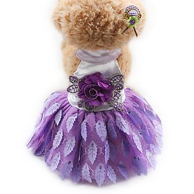 Katze Hund Kleider Smoking Hundekleidung Party Lässig/Alltäglich Hochzeit Prinzessin Schwarz Purpur Rot
