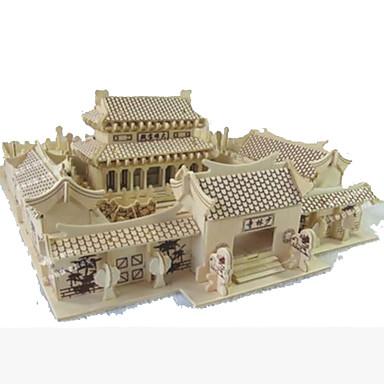 Puzzle 3D Modelul lemnului Jucarii Pătrat Clădire celebru Casă Arhitectură Reparații Lemn Lemn natural Ne Specificat Pentru copii Bucăți