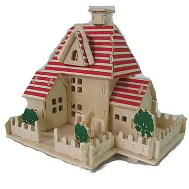 3D-puzzels Legpuzzel Hout Model Modelbouwsets Speeltjes Vierkant Huis 3D Hout Kinderen Niet gespecificeerd Stuks