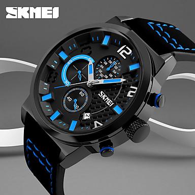 Недорогие Часы на кожаном ремешке-Муж. Спортивные часы Армейские часы Смарт Часы Кварцевый Цифровой Натуральная кожа Разноцветный 50 m Календарь Творчество Cool Аналого-цифровые Кулоны Классика На каждый день Мода Нарядные часы -