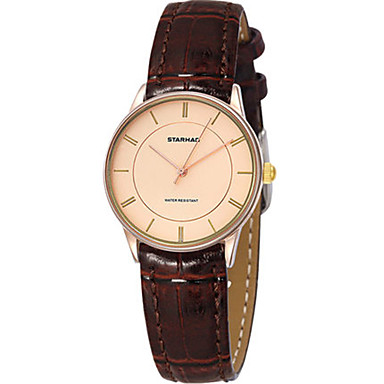 Dames Modieus horloge Kwarts Waterbestendig PU Band Bruin