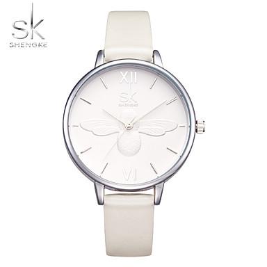 Damen Modeuhr Armbanduhr Chinesisch Quartz Schockresistent PU Band Freizeit Weiß