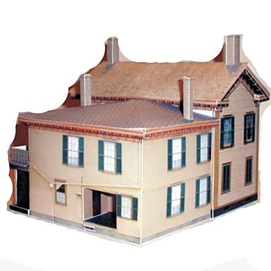 3D-puzzels Papierkunst Speeltjes Vierkant Beroemd gebouw Huis Architectuur 3D DHZ Hard Kaart Paper Unisex Stuks
