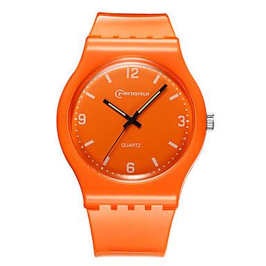Pentru femei Ceas Sport Ceas La Modă Quartz Rezistent la Apă Cauciuc Bandă Alb Orange Pink