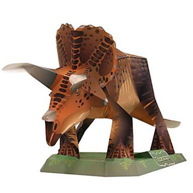 Puzzle 3D Modelul de hârtie Μοντέλα και κιτ δόμησης Pătrat Dinosaur Reparații Hârtie Rigidă pentru Felicitări Clasic Băieți Unisex Cadou