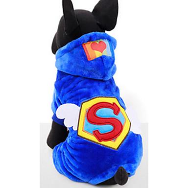 Hund Kapuzenshirts Hundekleidung Lässig/Alltäglich Buchstabe & Nummer Rot Blau