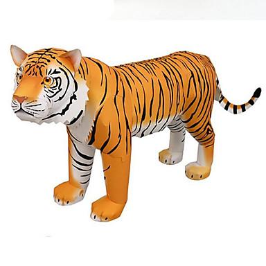 3D-puzzels Bouwplaat Vierkant Tiger Dieren DHZ HardKaart Paper Alle leeftijden