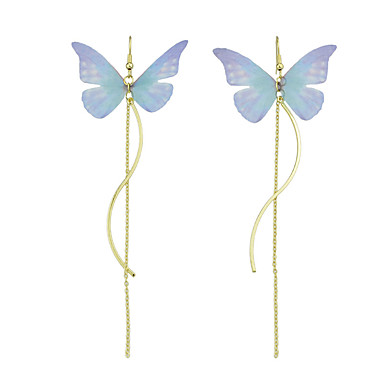 Damen Tropfen-Ohrringe - Grundlegend Blau Rosa+Weiß Ohrringe Für Normal