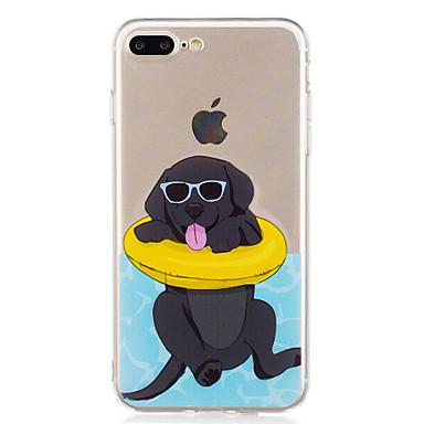 Voor iPhone X iPhone 8 Hoesje cover Patroon Achterkantje hoesje Hond Zacht TPU voor Apple iPhone X iPhone 7s Plus iPhone 8 iPhone 7 Plus