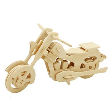 قطع تركيب3D تركيب تركيب معدني الخشب نموذج مجموعات البناء دراجة نارية 3D اصنع بنفسك خشب الخشب الطبيعي كلاسيكي 6 سنوات فما فوق