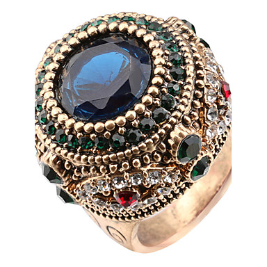 Dames Ring Statement Ring Kristal Diverse Kleuren Hars Kromi Anderen Gepersonaliseerde Luxe Uniek ontwerp Klassiek Vintage Tekojalokivi
