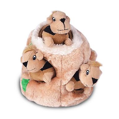 Plüsch-Spielzeug Niedlich Faltbar Verstellbar Eichhörnchen Stoff Für Katze Hund