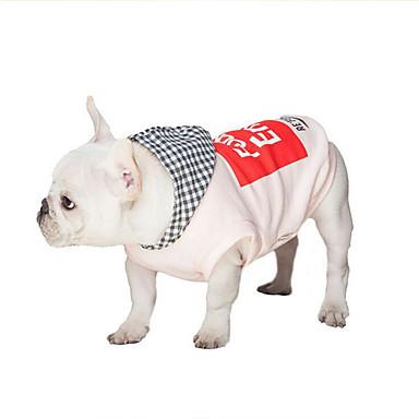 Hund Kapuzenshirts Hundekleidung Lässig/Alltäglich Buchstabe & Nummer Weiß Rosa Kostüm Für Haustiere